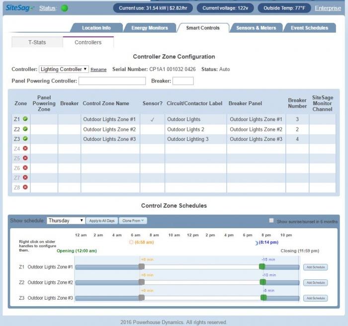C-store energy management controller
